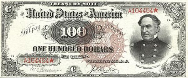 4 100 Federal Reserve STAR Notes 2001   100 Dollar Bill