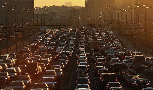 """#Автомобильные """"пробки"""" на улицах Москвы"""