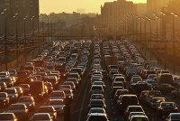 """Автомобильные """"пробки"""" на улицах Москвы"""