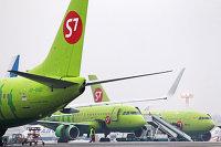 Самолеты Boeing 737-800 авиакомпании S7 Airlines