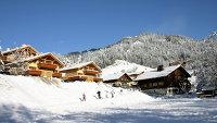 Во французских Альпах. На редкость снежная зима выдалась в Западной Европе