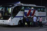 Туристы пребывают в аэропорт курорта Шарм-эш-Шейх, Египет. Ноябрь 2015