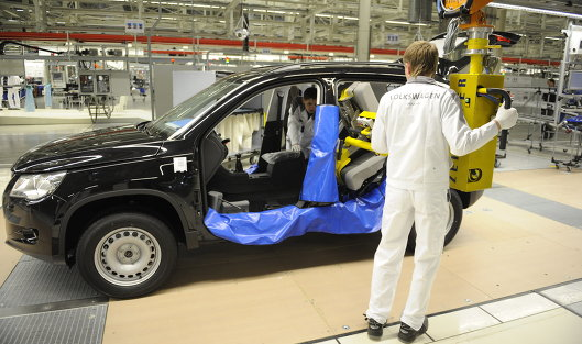 822604501 - Калужский завод Volkswagen в 2017 г нарастил производство машин на 7,7%