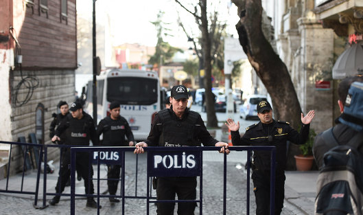 Вцентре Стамбула произошел взрыв