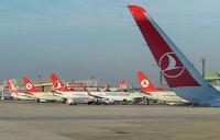 Самолеты авиакомпании Turkish Airlines в Международном аэропорту имени Ататюрка в Стамбуле