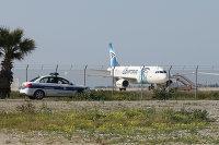 *Самолет A320 компании EgyptAir в аэропорту Ларнаки, Кипр
