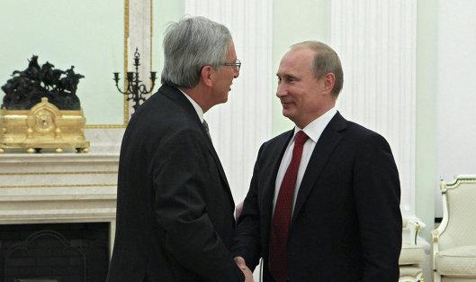 Встреча Владимира Путина с Жаном-Клодом Юнкером в Кремле