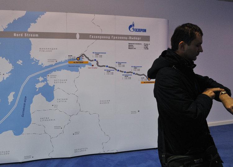 """Схема второй ветки газопровода """"Северный поток"""""""