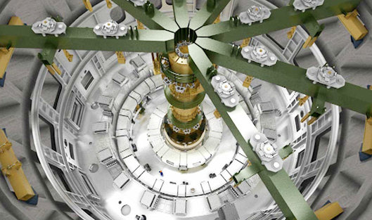 Процесс сборки термоядерного реактора ИТЭР