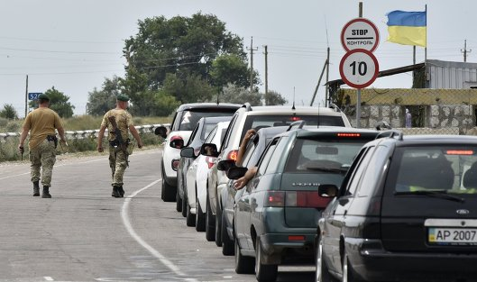 КПП награнице Украины сКрымом снова открыты