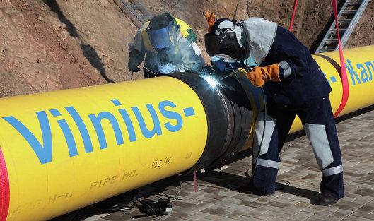 Участок газопровода Минск-Вильнюс-Каунас-Калининград в Литве