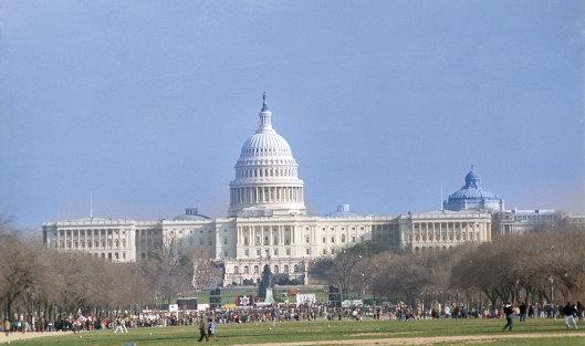 #Вид на Капитолий. Вашингтон