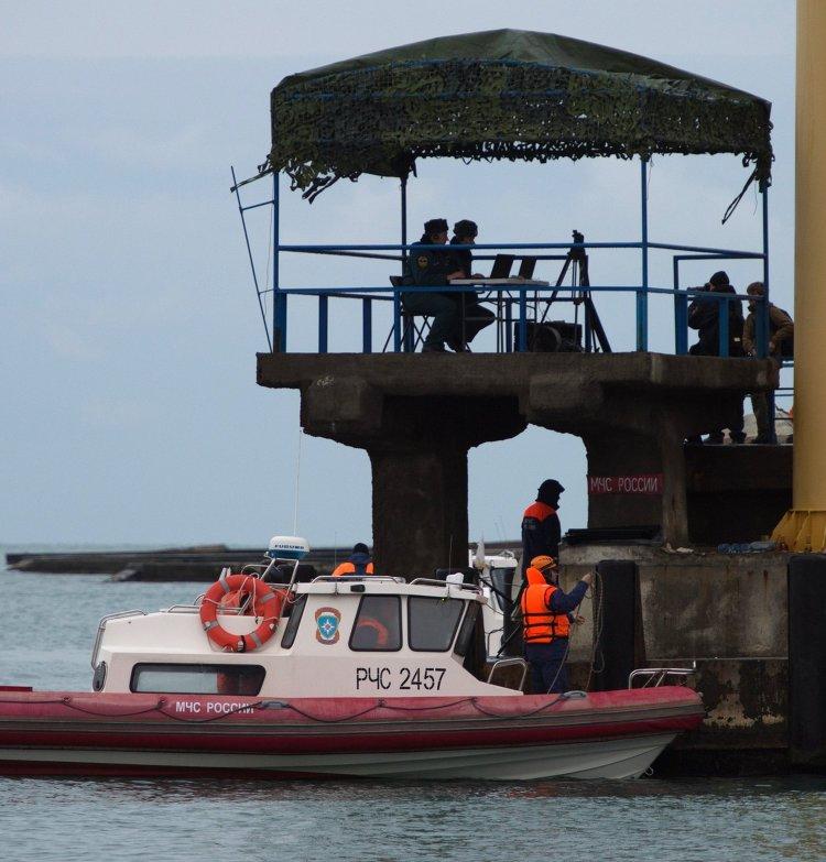 Поисково-спасательная операция в Черном море крушения Ту-154