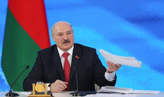 #Президент Белоруссии Александр Лукашенко на пресс-конференции в Минске. 3 февраля 2017
