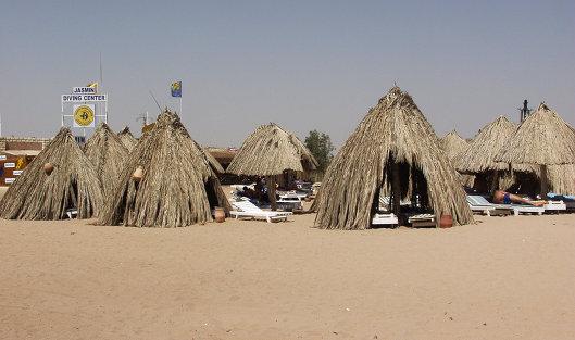 #Пляж курорта Хургада в Египте