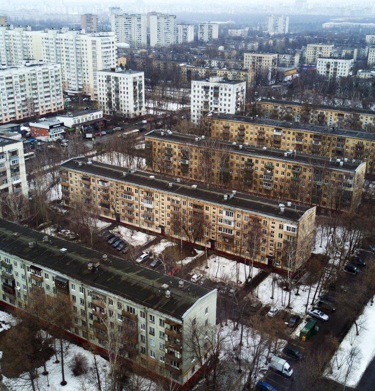 Пятиэтажные дома в Москве