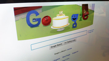 Скриншот сайта Google