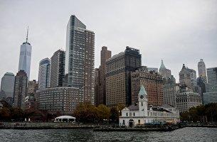 Дома на острове Манхэттен в Нью-Йорке