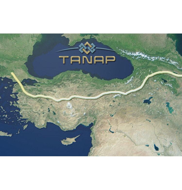 Карта с расположением газопровода компании TANAP