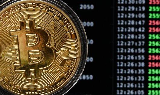 #Сувенирная монета криптовалюты биткойн в MaRSe Bitcoin Center в Москве