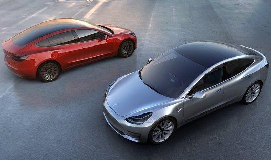 #Автомобили Tesla Model 3