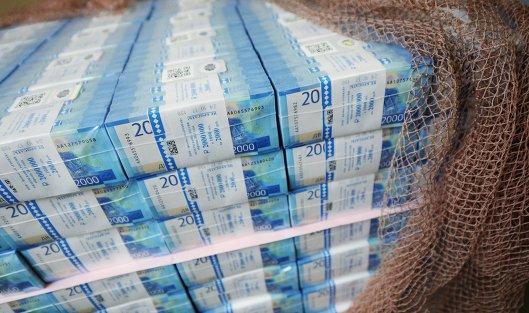 #Пачки с денежными купюрами номиналом 2000 рублей на Пермской печатной фабрике