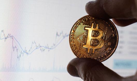 #Сувенирная монета с логотипом криптовалюты биткоин