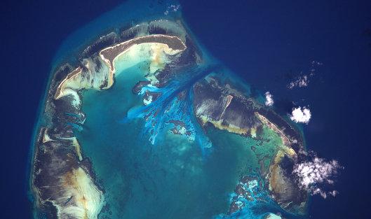 Сейшельские острова снятые я МКС