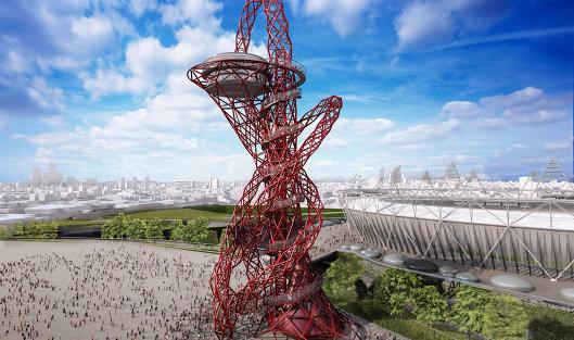 Проект монумента ArcelorMittal Orbit в Олимпийском парке Лондона