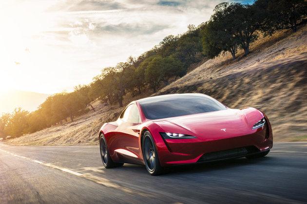 #Автомобиль Tesla Roadster 2