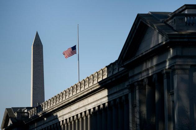 % Здание Министерства финансов США в Вашингтоне