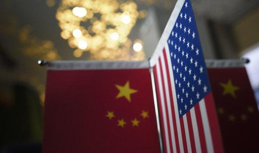 #Флаги США и Китая