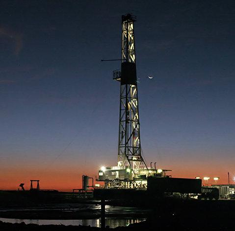 %Буровая установка для геологической разведки в Техасе, США