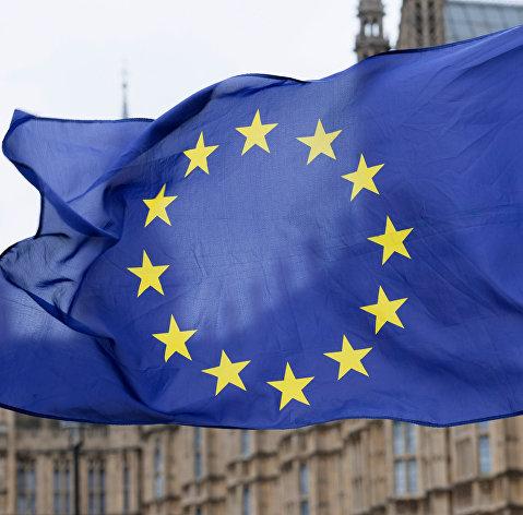 #Флаг Европейского Союза (ЕС) на улице Лондона