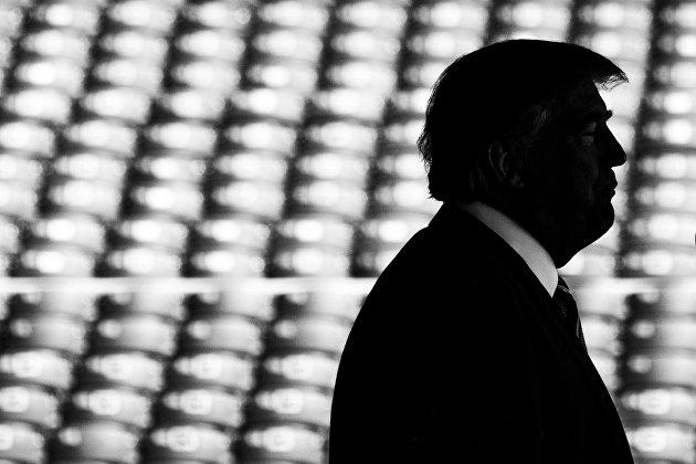 %Президент США Дональд Трамп