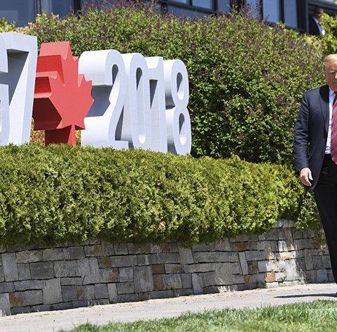 Трамп заявил, что предложил партнерам по G7 создать зону беспошлинной торговли