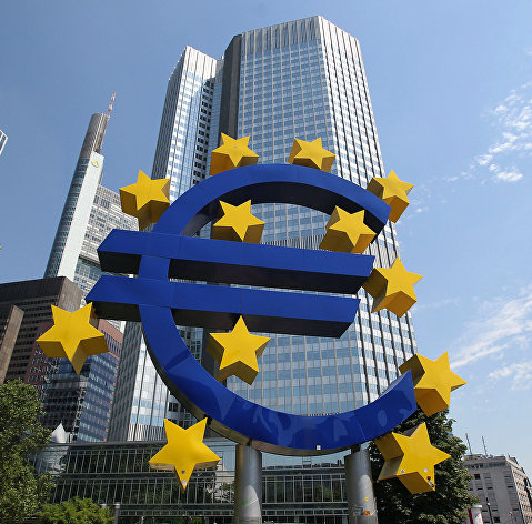 % Здание Европейского центрального банка (ЕЦБ) во Франкфурте, Германия