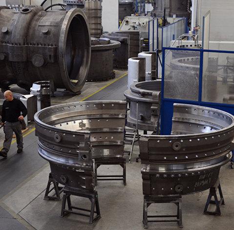 # Производство газовых турбин на заводе компании Siemens