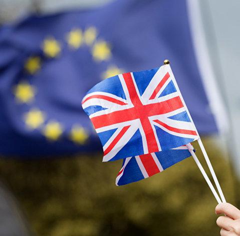 %Противники выхода Великобритании из Европейского Союза (ЕС) на улице Лондона