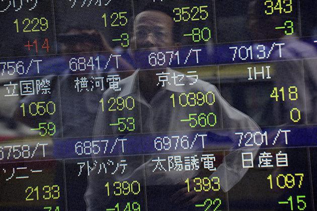 %Табло Токийской фондовой биржи