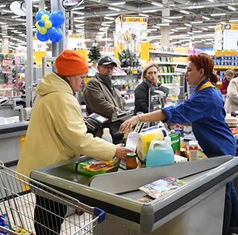 % Покупатели в супермаркете