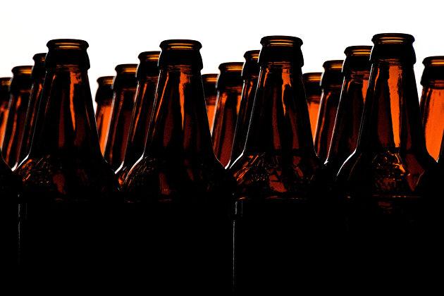 Цех розлива пивоваренном заводе