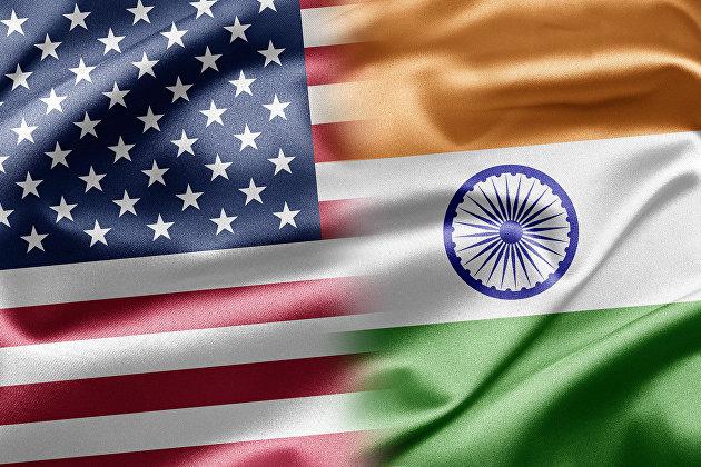 Флаги США и Индии