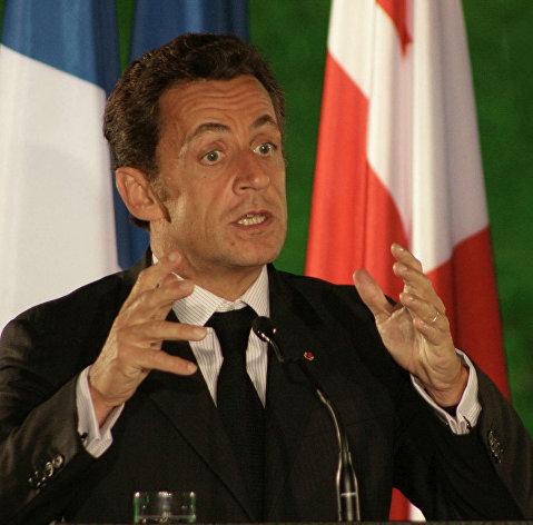 *Экс-президент Франции Николя Саркози