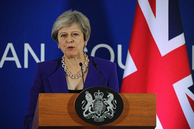 Премьер-министр Великобритании Тереза Мэй выступает на 12-м Азиатско-европейском саммите (ASEM) в Брюсселе. 18 октября 2018