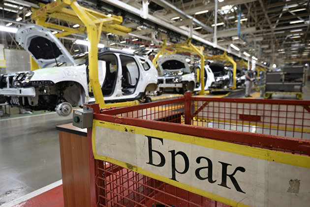 Производственная линия на московском заводе Renault