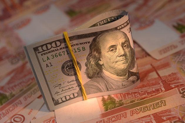 829609846 - Рубль вечером усилил рост, доллар опустился в район 65, евро – ниже 73 руб
