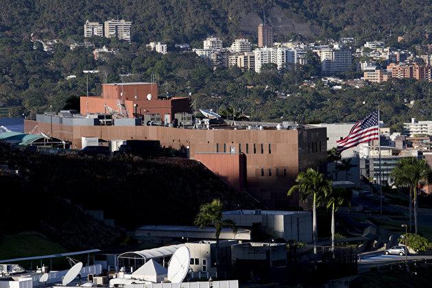 Лидер оппозиции Венесуэлы Хуан Гуаидо выступил на митинге в Каракасе / Посольство США в Венесуэле
