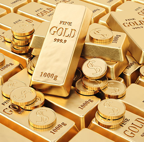 Золото торгуется у недельного максимума перед дебатами в США