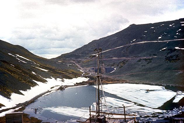 Буровая установка Удоканского месторождения медных руд